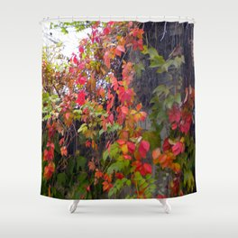 Bright Leaves Shower Curtain