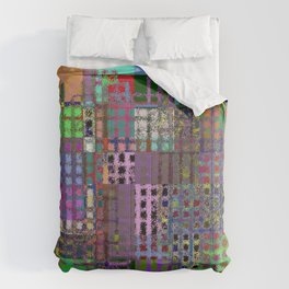 Pastel Playtime - Abstract, geometric, textured, pastel themed artwork Comforters
