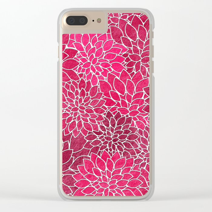 Floral Abstract 19 Clear iPhone Case