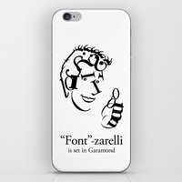 font iPhone & iPod Skins featuring 'Font'-zarelli by Christian Bailey
