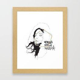 MY THOUGHTS KEEP ME WARM Framed Art Print