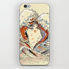 The Wave of Love iPhone Skin