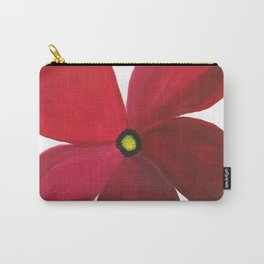 Poppy Floral Print - Original Art - Flower Print Carry-All Pouch