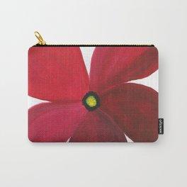 Poppy Floral Print - Original Art - Flower Print Carry-All Pouch