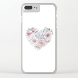 bird of paradise , paradisebirds , simple floral graphic design , gift for gardener Clear iPhone Case