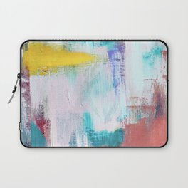 Colfax: an interesting, vibrant, abstract mixed media piece in a variety of colors Laptop Sleeve