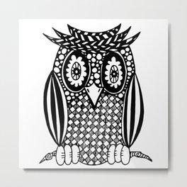 Hypnotise Owl Metal Print