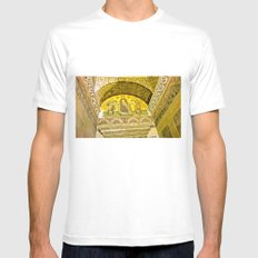 Painting the sacred wall. White Mens Fitted Tee MEDIUM