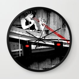 Stop the Freeway Overpass Scales Madness! Wall Clock