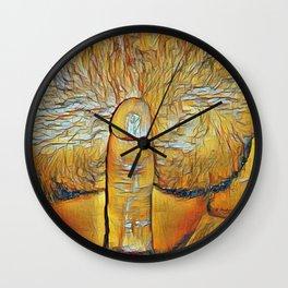 Furry Nest Wall Clock
