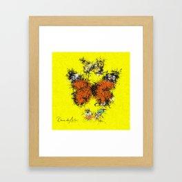 3 Butterflies Splatter Abstract Framed Art Print