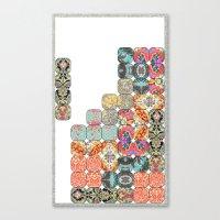 tetris Canvas Prints featuring TETRIS by Bianca Green