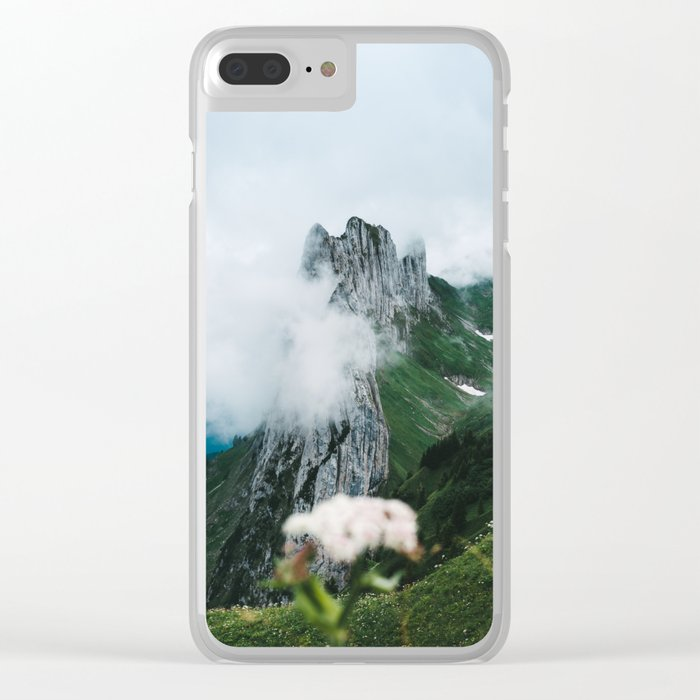 Flower Mountain in Switzerland - Landscape Photography Clear iPhone Case