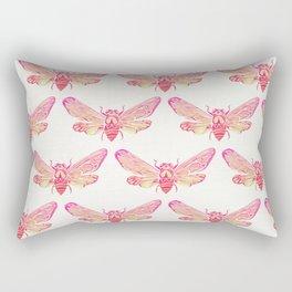 Summer Cicada – Pink Palette Rectangular Pillow