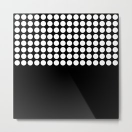 Black and white polka dot .2 Metal Print