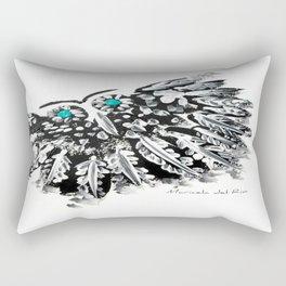 EL BÚHO DE LOS OJOS AZULES by MARICELA DEL RIO Rectangular Pillow