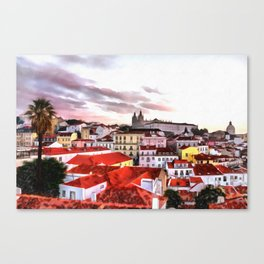 "Sunrise in Lisbon, ""Portas do Sol"" (Sun doors) Canvas Print"