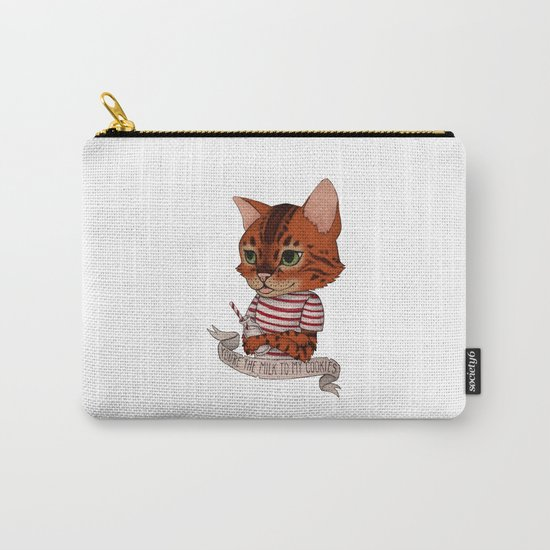FRANKIE THE CAT - white Carry-All Pouch