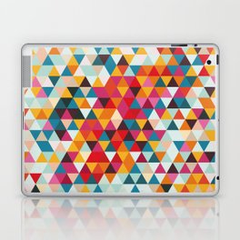 Vintage Summer Color Palette - Hipster Geometric Triangle Pattern Laptop & iPad Skin