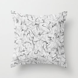 Black and White Electric Marble Throw Pillow