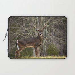 White Tailed Deer Eight Point Buck Laptop Sleeve
