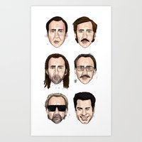 cage Art Prints featuring Cage by Matthew Brazier Illustration