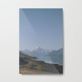 mt cook road Metal Print