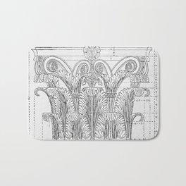 Corinthian column Bath Mat