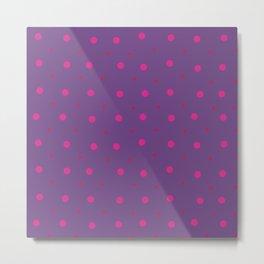Lilac Purple Pink Dots Pattern Metal Print