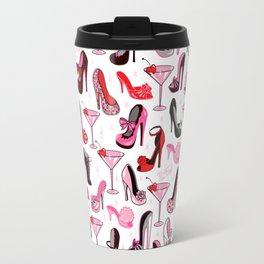 Retro Shoes and Pink Martinis Travel Mug