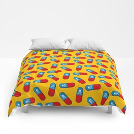 Deadly but Colorful. Pills Pattern Comforters