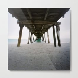 Under Grange Jetty Metal Print