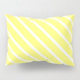 Custard Diagonal Stripes Pillow Sham