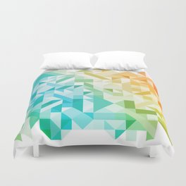 Colorful Geometric Pattern Saturated Rainbow Pattern Design (Red Pink Orange Yellow Green Blue) Duvet Cover