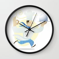 chef Wall Clocks featuring Chef by Dues Creatius