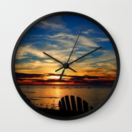 Peace and Relaxation at the Sea shore Wall Clock