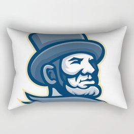 Abraham Lincoln Head Mascot Rectangular Pillow