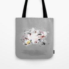Dust-Ups: Zombie vs Robot Tote Bag