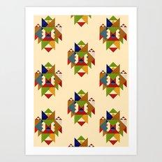 Beyond the Sea Pattern Art Print