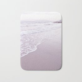 Happiness comes in pastel purple waves Bath Mat