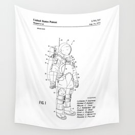 NASA Space Suit Patent Wall Tapestry
