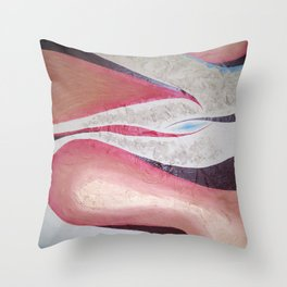 Red Ghost Throw Pillow