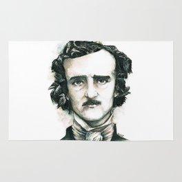 Edgar Allan Poe and Ravens Rug