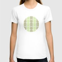 striped T-shirts featuring Striped Geometric by Robin Gayl