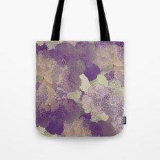 Aubergine Floral Hues Tote Bag