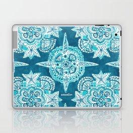 INNER MERMAID COMPASS Blue Nautical Mandala Laptop & iPad Skin