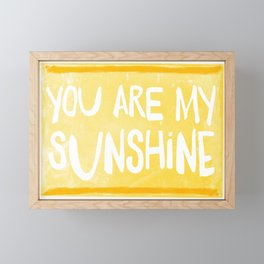 My Sunshine Love Framed Mini Art Print
