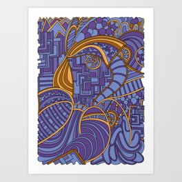 Wandering 48: color variation 2 Art Print