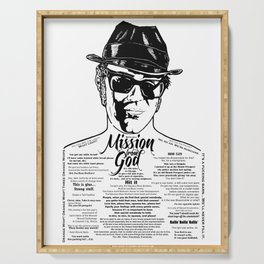 Elwood Blues Brothers tattooed 'Dry White Toast' Serving Tray