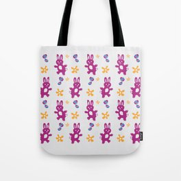 The Great Easter Egg Hunt - Pink Mauve Yellow Blue Tote Bag
